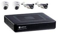 Комплект видеонаблюдения №4 AHD 2 Мп (2 купольные + 2 уличные камеры)